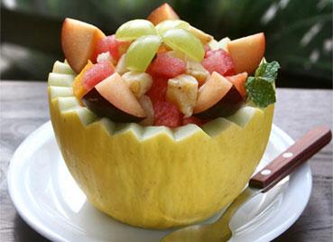 frutas são servidas